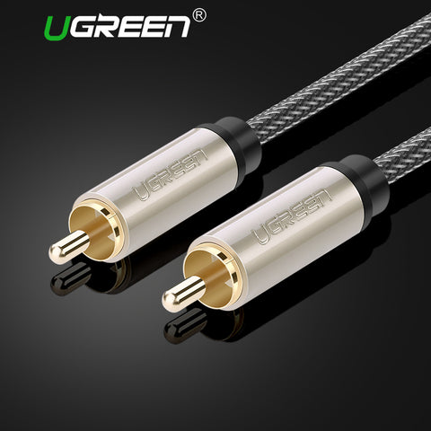 Ugreen RCA to RCA Male to Male Coaxial Cable Stereo Audio Cable Nylon Braided 3m 5m 10m RCA Video Cable for TV Amplifier Home