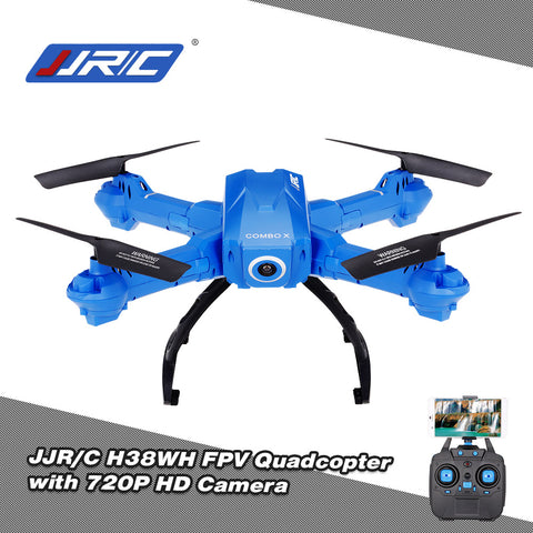 JJR/C H38WH Wifi FPV 720P HD 120 Wide Angle Camera Drone 2.4Ghz G-Sensor Height Hold Selfie RC Quadcopter RTF