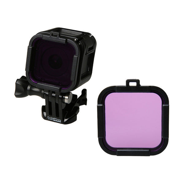 3 colors For Go pro Hero 4 Session Lens UV Filter, UV Diving Filter for Gopro Hero 4s hero 4 action camera Accessories