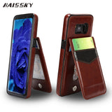 HAISSKY Leather Wallet Card Case For Samsung Galaxy S8 Plus Case S8 Flip Covers Carteira Stand Fundas Phone Accessories