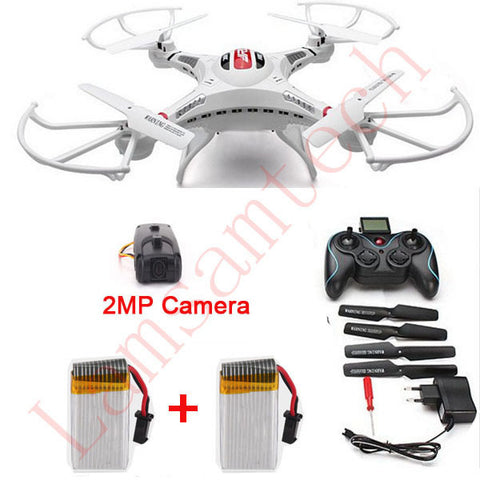 2Battery RC Drone camera JJRC H8C 2.4G RC Helicopter 6-Axis GYRO  Quadcopter Drone With Camera Remote control Toys