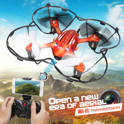 WIFI Real-time FPV Transmission rc drone H6W 2.4G 4CH 6 Axis Gyro RC Helicopter One Press Return Quadcopter camera drone VS M61