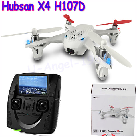 1pcs Hubsan X4 H107D FPV RC Quadcopter camera LCD Transmitter drone Live Video Audio Streaming Recording Helicopter Drop Ship