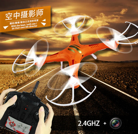 2016 hot sale 2MP Camera Drone KC-F5 RC Quadcopter  2.4G 6Axis Gyro 4Ch Helicopter with Professional Hd Camera VS F183 JJRC H9D