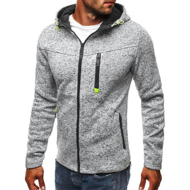 Men's Plus Size Solid Long Sleeve Casual Loose Zipper Streetwear Hip Hop Hoodie