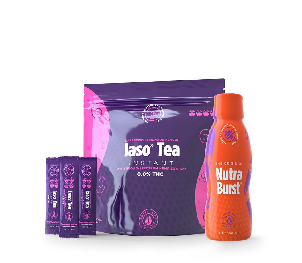 Raspberry Lemonade IASO Tea 0.0 THC & Nutra Burst