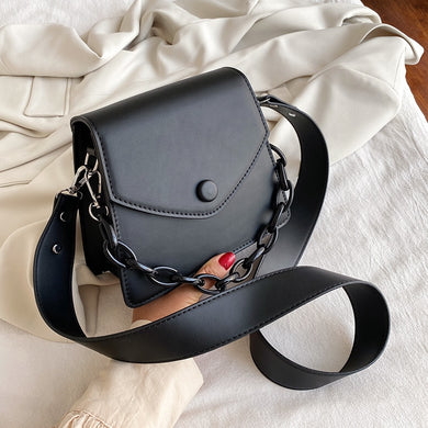Thick Chain Small PU Leather Bags