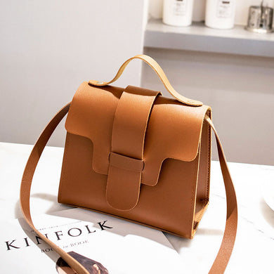 Women's Casual Small Leather Crossbody Bags PU Leather Shoulder Tote Handbag