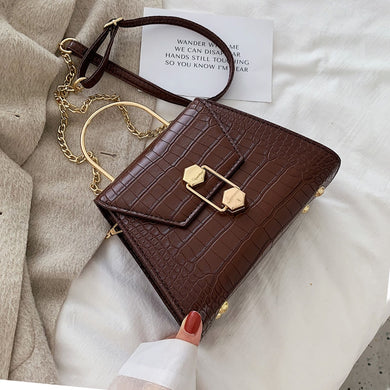 Stone Pattern PU Leather Crossbody Bags