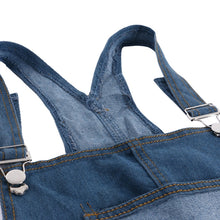 Women Overalls Cool Denim Jumpsuit Ripped Holes