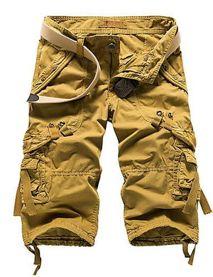 Men's Cargo Shorts Pants - Solid Colored