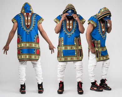 African Dashiki Print Costume Sleeveless Sweatshirt Hoodie