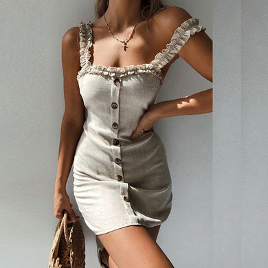 Woman's Sexy Bodycon Beach Strap Wrap Dress
