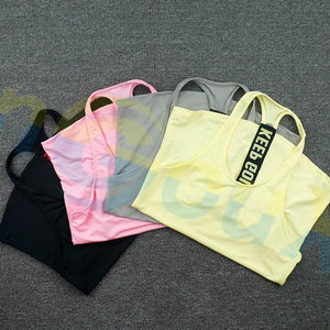 Summer Women Gym Sports Vest Sleeveless