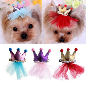 RED QUEEN BARK'S DOG HAIR BOW