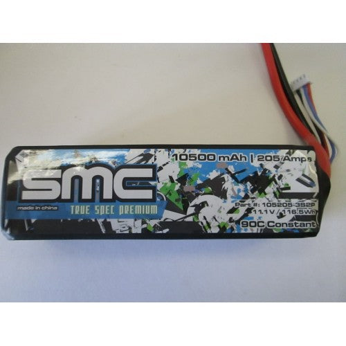 True Spec Premium 11.1V 10500mAh 205Amps/90C with G10 plates