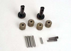 Traxxas TRA2382 Planet gears (4)/ planet shafts (4)/ sun gears (2)/sun gear alignment shaft (1) all hardened steel