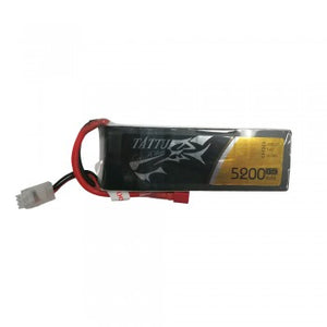 Tattu TA-35C-5200-2A1P-Deans 5200mAh 7.4V 35C 2S1P Lipo Battery Pack with Deans plug