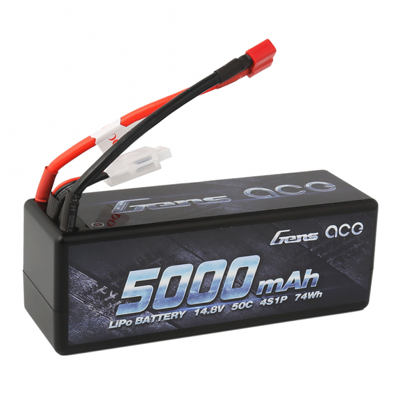 Gens ace 5000mAh 14.8V 50C 4S1P HardCase Lipo Battery14# with Deans plug - Race Dawg RC