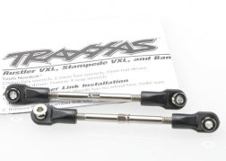 Traxxas TRA3745 Turnbuckles, toe link, 59mm (78mm center to center) (2) (assembled with rod ends and hollow balls)