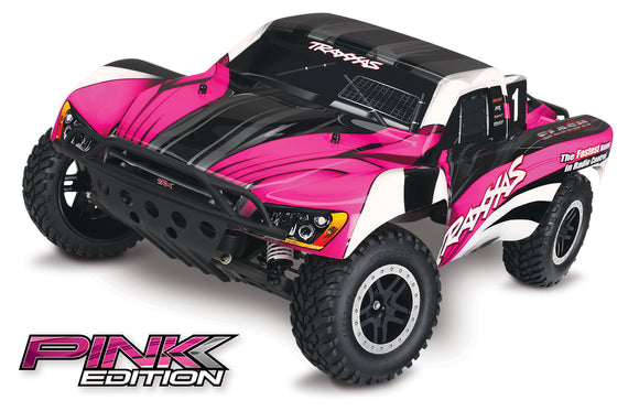 Traxxas TRA58034-1-PINK   Pink Edition Slash 1/10 2wd S.C Race Truck RTR W/2.4GHZ Radio, 3000mAh ID Batt & Charger