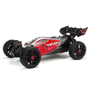 Arrma - 1/8 TYPHON 3S BLX 4WD Brushless Buggy with Spektrum RTR, Red (ARA102722)
