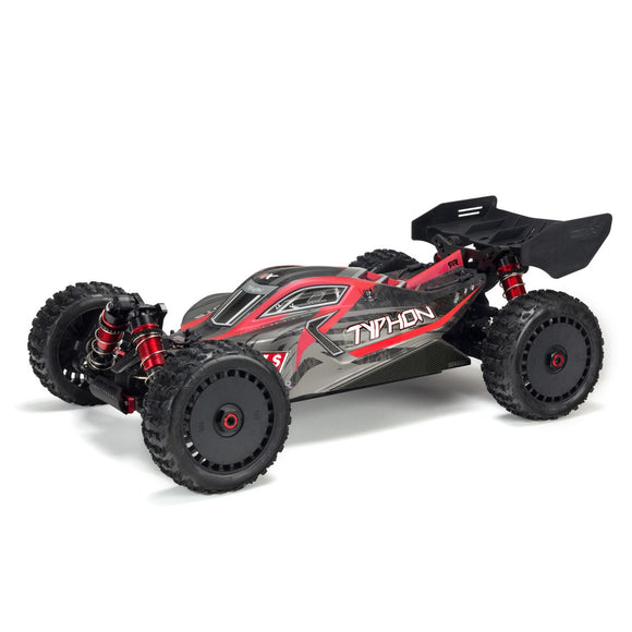 Arrma - 1/8 TYPHON 6S BLX 4WD Brushless Buggy with Spektrum RTR, Red/Grey (ARA106046)