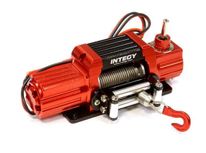 Billet Machined T7 Realistic High Torque Mega Winch for Scale Rock Crawler 1/10 C25579RED