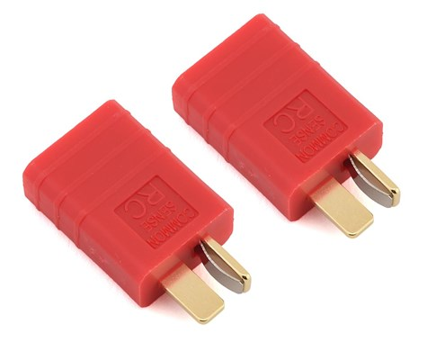 CSDTFDM-2PK Common Sense RC One Piece Adapter Plug (T-Style Male to Traxxas Female) (2)