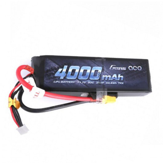 Gens Ace 4000mAh 11.1V 50C 3S1P Lipo Battery Pack - Race Dawg RC