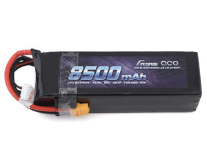 Gens ace 14.8V 50C 4S 8500mAh Lipo Battery Pack with XT60 Plug for Xmaxx 8S Car - GEA85004S50X6