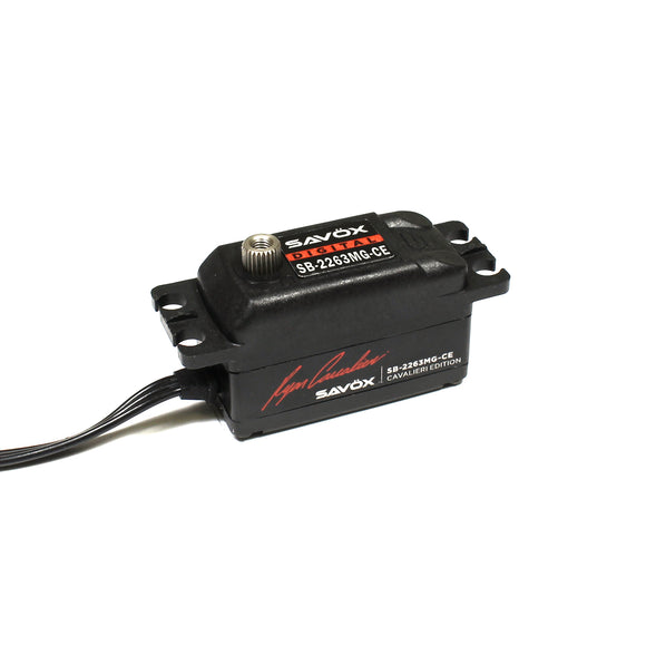 SAVOX - SAVSB2263MG-CE   Ryan Cavalieri Edition, Low Profile Brushless Digital Servo .076/138.9 @ 6V