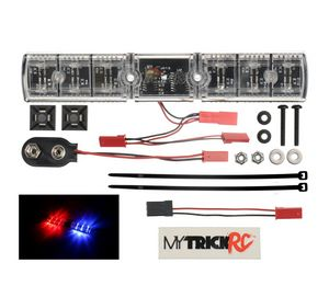 MYKFB1   Police Interceptor Flasher - Realistic Flashing Light Bar - Red and Blue LEDs