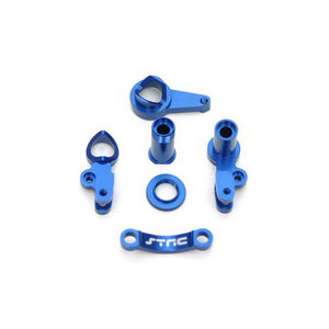 ST Racing  SPTST6845B   HD ALUM STEERING BELLCRANK SET FOR SLASH 4X4 (BLUE )