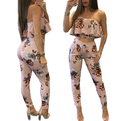 FRANCESCA FLORAL TWO PIECE PANTS SET - B ANN'S BOUTIQUE