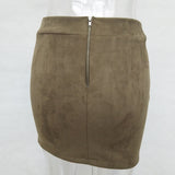 SUEDE LACE-UP MINI-SKIRT - B ANN'S BOUTIQUE