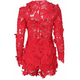 IT'S ALL ABOUT THE LACE JACKET & SHORTS SET - B ANN'S BOUTIQUE
