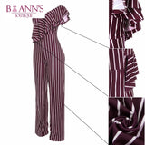 STRIPED SASSY JUMPSUIT