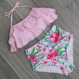 DOUBLE-RUFFLE DOUBLE-TROUBLE TWO-PIECE SWIMSUIT - B ANN'S BOUTIQUE