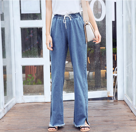 DRAWSTRING DENIM PANTS - B ANN'S BOUTIQUE