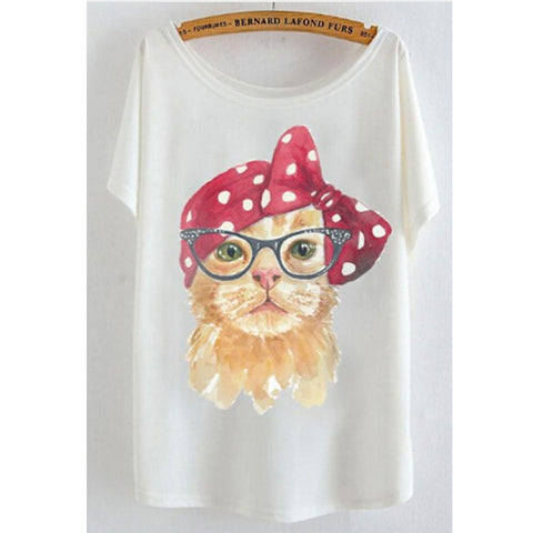 CAT DIVA TEE - B ANN'S BOUTIQUE
