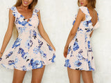 SLEEVELESS FLORAL MINI DRESS - B ANN'S BOUTIQUE