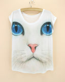 FLOWING 3D KITTY CAT TEE - B ANN'S BOUTIQUE