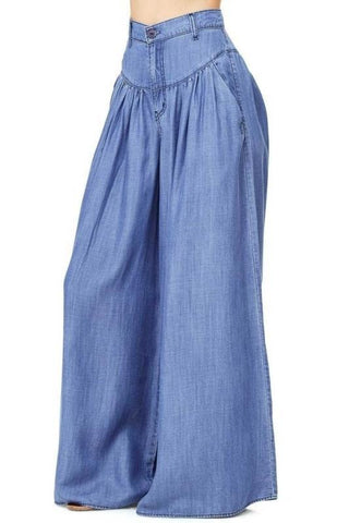HIPPIE CHICK DENIM FLARE PANTS - B ANN'S BOUTIQUE