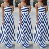 STRAPLESS STRIPED MAXI - B ANN'S BOUTIQUE