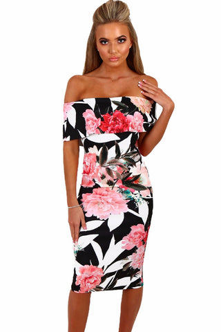 THE FABULOUS FLORAL FITTED DRESS