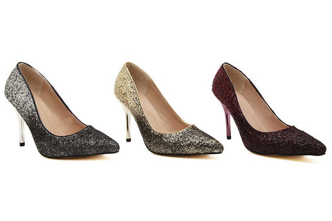 OMBRE GLITTER PUMPS - B ANN'S BOUTIQUE