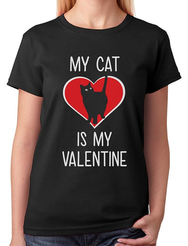 MY CAT IS MY VALENTINE TEE - B ANN'S BOUTIQUE
