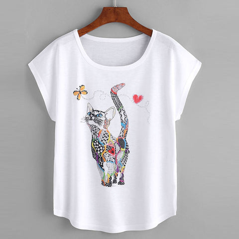 PATCHES THE CAT TEE - B ANN'S BOUTIQUE