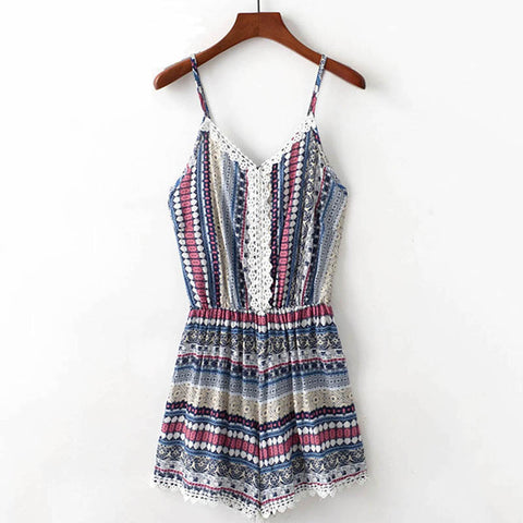 HIPPIE CHICK ROMPER - B ANN'S BOUTIQUE
